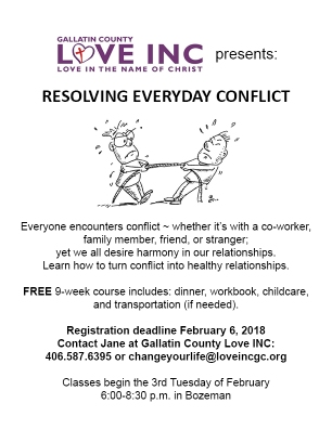 2018Spring_Resolving Everyday Conflict flyer